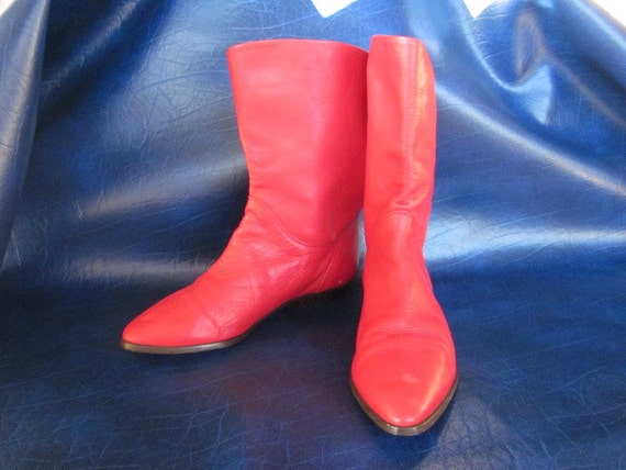Red Leather Bandolino Boots