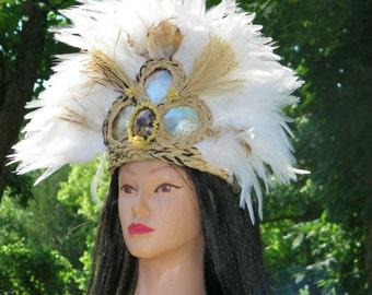 TAHITIAN Headdress Hand Sewn Original