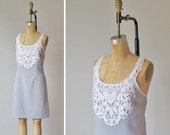 Upcycled, Pale Summer Day Dress Victorian Lace bib