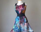 Dress / WEAR ART / Van Gogh / Blue Purple / Romantic / Dreamy / Soft / Silk / Flowy / Delicate / Tunic / Art Dress