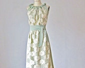 Dress /  Lase /  Mint and Creme   / Bridesmaids / Romantic / Bride / Wedding /  Box dress / Vintage inspired