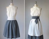 One top  , one skirt  two sashes all in one  custom made for you  -elegant , mod, romantic