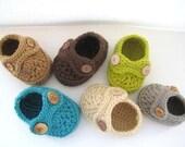 Boy's Striders Crochet Baby Booties Pattern ( pdf pattern)-4 sizes