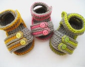 Crochet Pattern Baby Booties ( pdf  pattern for sale),Sporty Sandals for Boys or Girls