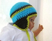 Crochet Pattern Hat , Newborn Baby to Adult,  Boy and Girl, Pdf Crochet Ear flap hat  pattern - Madison Earflap Hat
