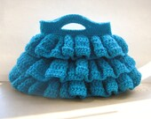 Free Crochet Pattern, Bella Ruffled Bag, Pdf Pattern