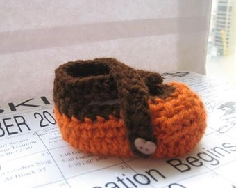 X-strap Crochet Baby  Booties  for Boys (pdf pattern for sale)