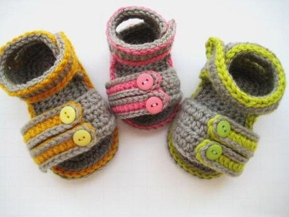 Crochet Pattern Baby Sandals ( pdf  pattern for sale),Sporty Sandals for Boys or Girls