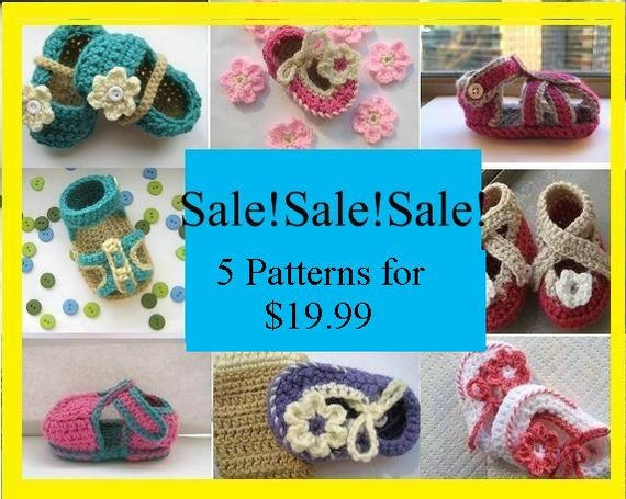 5 Crochet Patterns for Baby,  19.99, pdf  crochet pattern