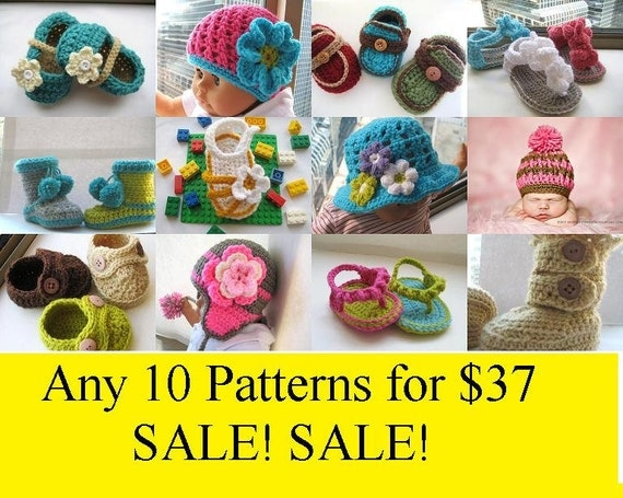 10  Crochet Patterns for Baby, for 37 , Limited Offer, Hurry