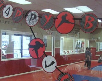 Karate Kid Birthday Banner