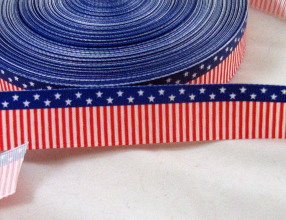 "Stars & Stripes 7/8"" Grosgrain Ribbon"