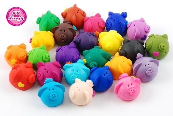 Piglets for good luck - mix, 10 pieces + 1 for free