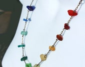 Sea Glass Rainbow Necklace, Made with Rare West Coast Seaglass