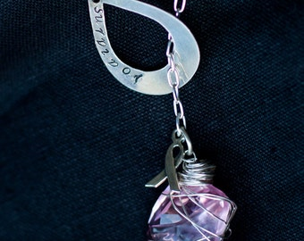 The Kathy Necklace - Breast Cancer Awareness Lariat