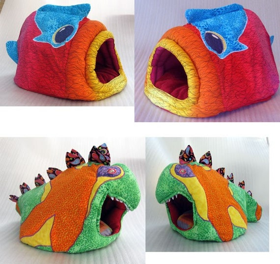 Custom Designer Art  Pet Bed for your best little friend  cat bed - dog bed - cat condo -pet beds
