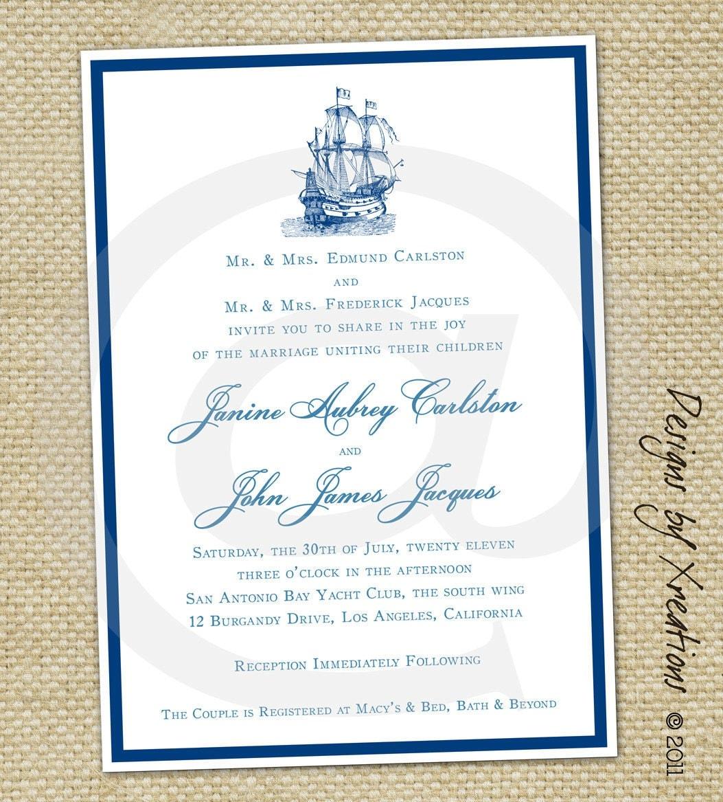 Items Similar To Simple Elegant, Nautical Themed Wedding