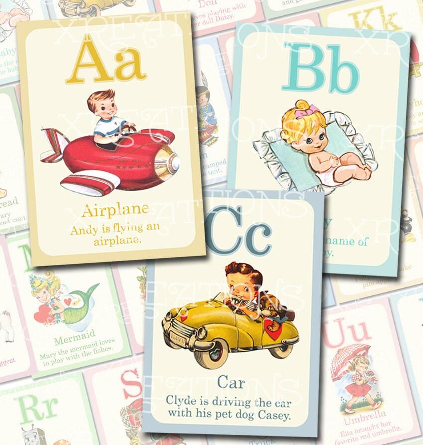 Alphabet flashcards | Etsy