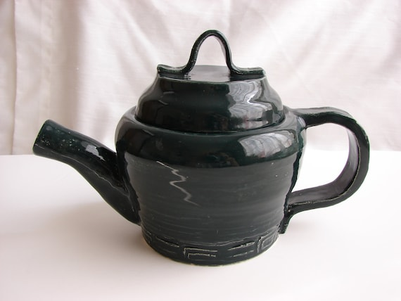 Teapot For Two In Midnight Sea Green and Teal