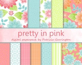 Pretty In Pink Digital Printable Cardmaking Scrapbooking Paper Pack