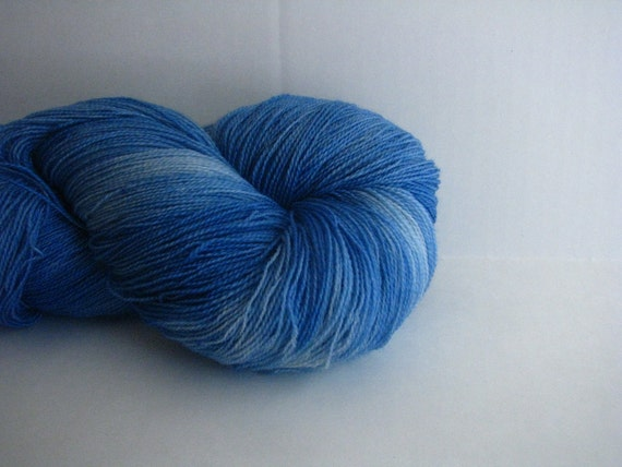 A Beautiful Blue- Corazón Lace- Hand dyed yarn