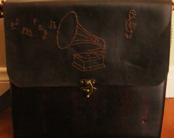 Custom Steampunk Leather Messanger Bag