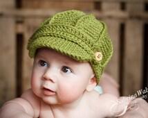 Newsboy Hat -Baby Newsboy Hat - Baby Hats - Newborn to Child Size Newsboy Hat - Baby Hat - by JoJosBootique