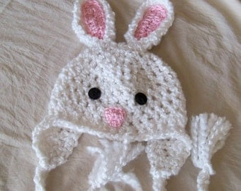 Bunny Hat  - Easter Bunny Hat - Baby Hat - Soft Baby Bunny Hat - Rabbit Hat - Easter Bunny Hat - by JoJosBootique