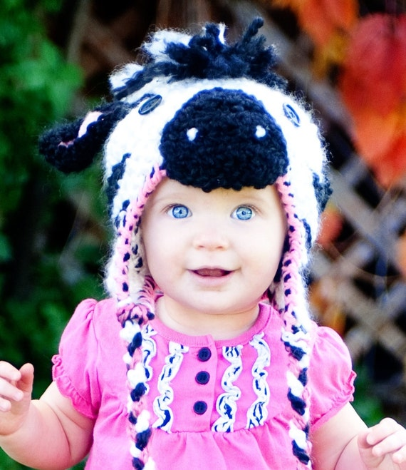 Baby Hat - Zebra Hat - Cute and Soft Baby Zebra Hat - Baby Hat -Halloween Costume Hat - by JoJo's Bootique