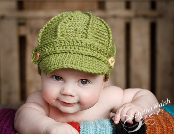 Newsboy Hat - Baby Newsboy Hat - Baby Hats -Newborn to Adult Size Newsboy Hat - Baby Hat - by JoJosBootique