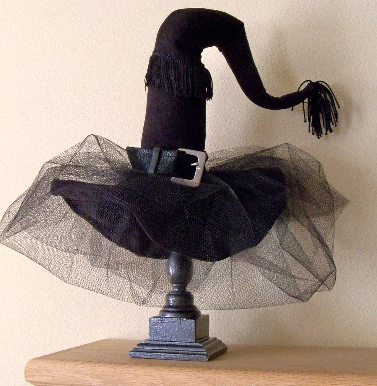 Witch Hat Halloween Decoration Diva Witch Hat Decor Black
