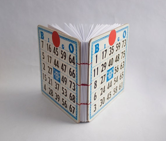 Recycled Vintage Bingo Board Journal
