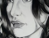 Liv Tyler Original Portrait Drawing