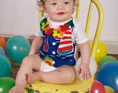 Hawaiian Vest Onesie with Matching Attached Leis
