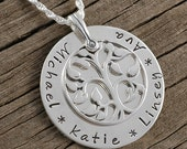 Family Tree - Personalized Name Necklace - Sterling Silver - Tree of Life