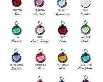 Add a Birthstone Channel Drop Charm