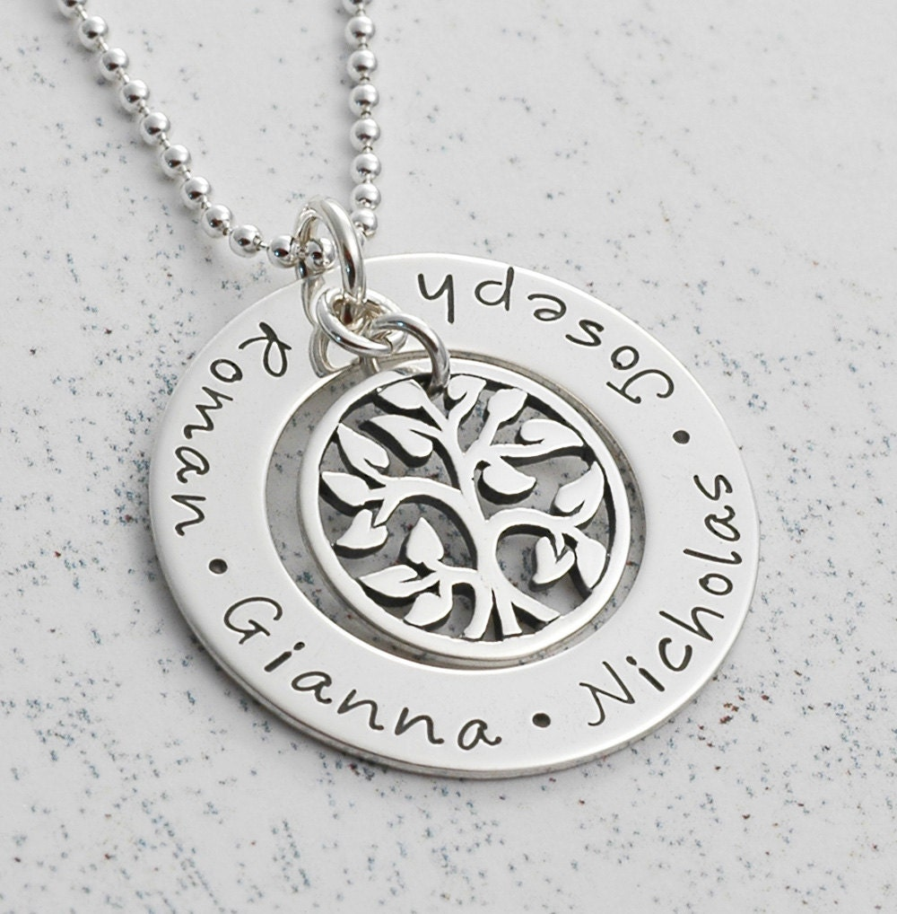 family tree necklace personalized sted