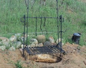 Deluxe Adjustable Camp Fire Grill