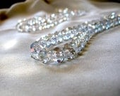 """Beautiful Clear Crystal Faceted Rondelle Beads, AB finish, 10mm x 8mm, 10"""" Strand, 36 pieces, New LOWER PRICE"""