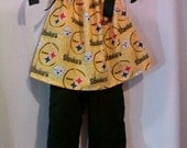 Last Day to Order-Sale Pricing -Support The Pittsburgh Steelers with this Pillowcase Dress/Top and Ruffled Pants