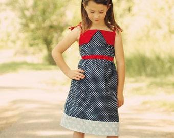 Paris Tea Time dress pattern 12-18m 18-24m 2t 3t 4t 5t 6 7 8 10 12 14 INSTANT DOWNLOAD