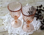 Pink Rosaline Wine Glasses