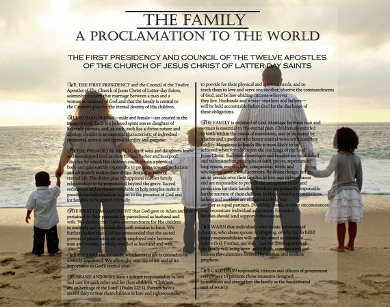 Family Proclamation LDS pictures