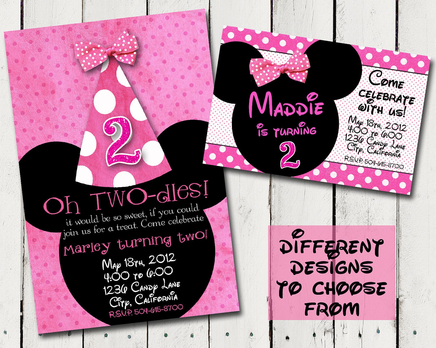 Minnie Mouse 2nd Birthday Invitations is the best ideas you have to choose for invitation example