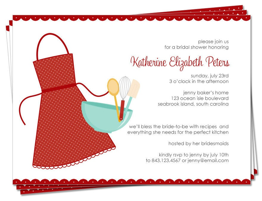 PRINTABLE SET Bridal Shower Invitation and by ...