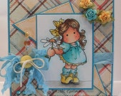 Handmade Card  - Magnolia Tilda Easel any occasion