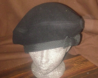 Black Wool and Cashmere Beret