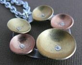 rivet copper brass dome aluminum pendant