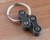 Cycling recycled metal bicycle chain key ring, bike jewelry, gift for cyclist, bike chain key chain, men's bicycle gift, bicycle accessory