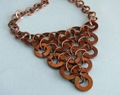 necklace triangle copper circle